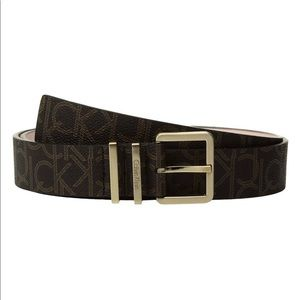 Calvin Klein CK Logo Leather Belt